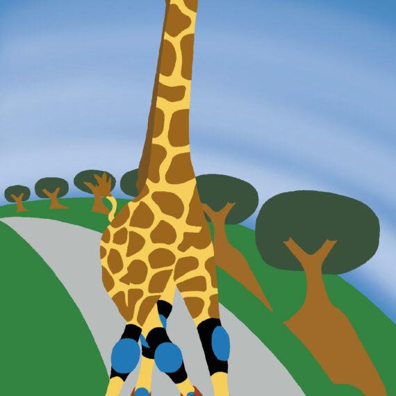 Giraffe Camelopardalis Roller Blaedus (023)