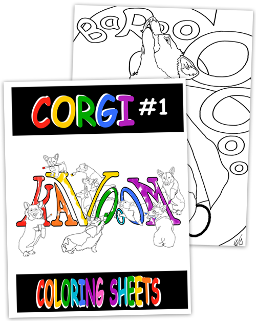 Corgi #1 Coloring Book