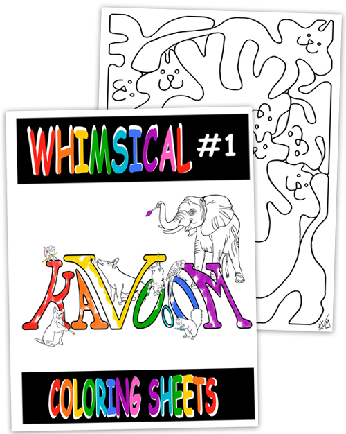 Whimsical #1 Coloring Book