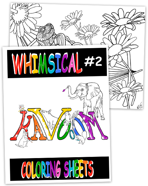 Whimsical #2 Coloring Book